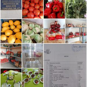 Alimentația copiilor este calitativă și se efectuează în corespundere cu meniul model (sezon iarnă-primavara)